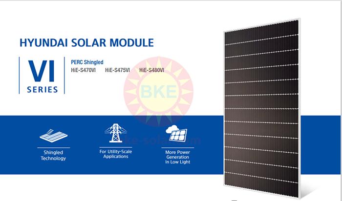 Pin năng lượng mặt trời hyundai tại BKE-Solar sự lựa chọn số 1 về chất lượng