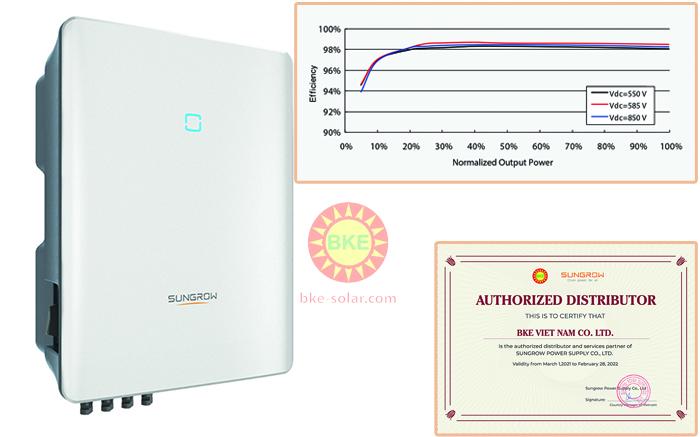Inverter hòa lưới điện solar Sungrow bảo hành chính hãng